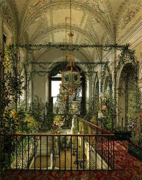 "Konstantin Andreyevich Ukhtomsky, ""The Small Winter Garden of Empress Alexandra Fyodorovna,"" 1870s."