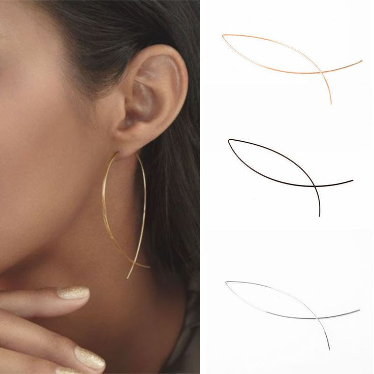 2$ 2pcs Cool Punk Simple Geometric Black Curved Line Alloy Lady Club Earrings | Jewellery & Watches, Fashion Jewellery, Earrings | eBay!