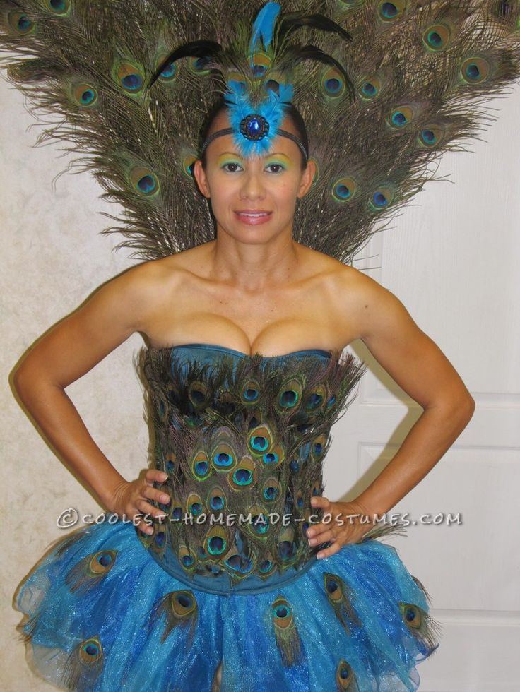 142 best peacock halloween costume ideas images on for Peacock crafts for adults