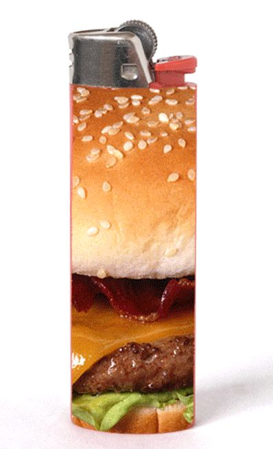 Cheeseburger lighter.  Looks good enough to eat.
