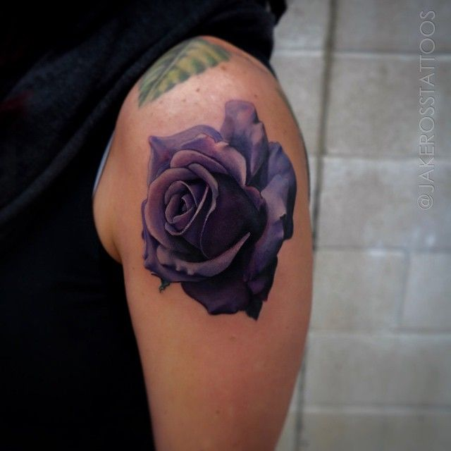 Purple rose done with @inkjecta and @eternalink