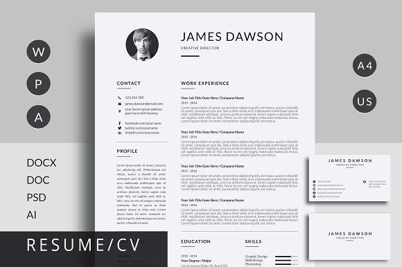 Resume/CV by Mr-Template on @creativemarket