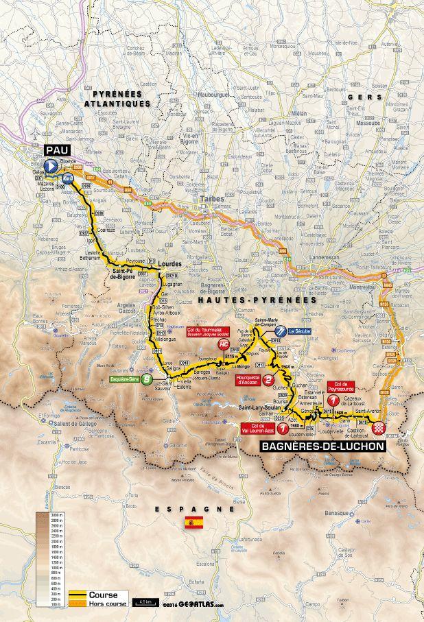 Tour de France 9-Juillet-2016. Vivez en direct l'Etape 8 : Pau > Bagnères-de-Luchon (184 km)