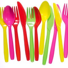 For health and safety plastic cutlery
