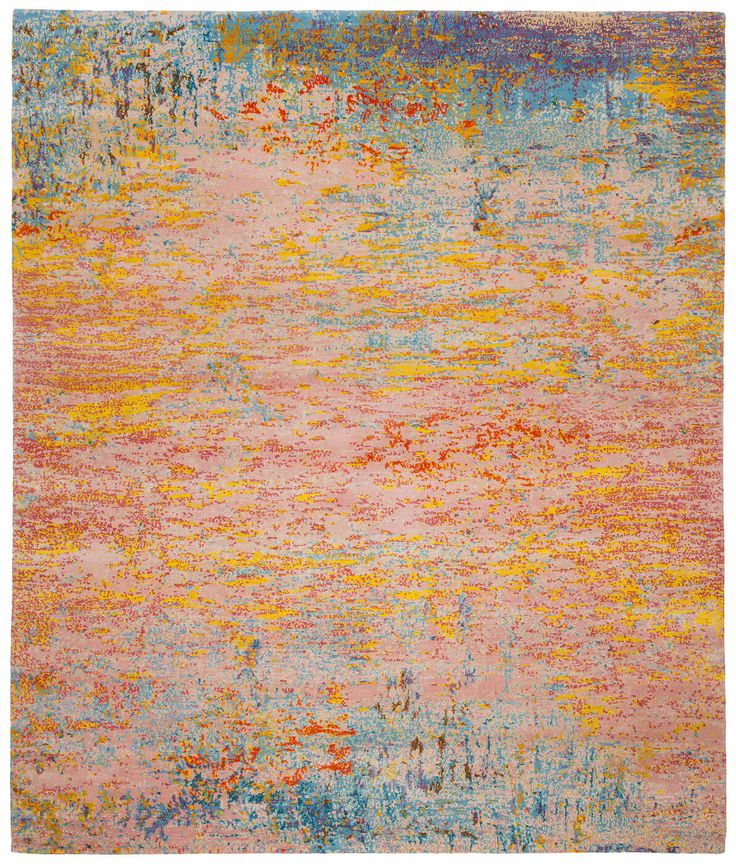 Contemporary rug / silk / wool / patterned ARTWORK 1  JAN KATH - Contemporary Rug Art