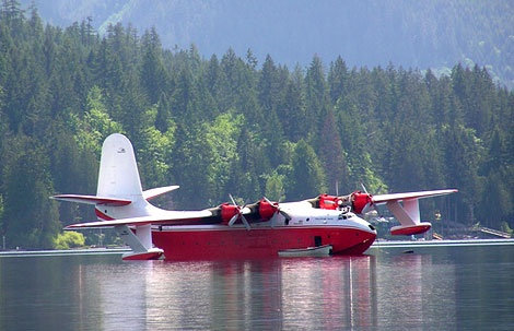 Mars Water Bomber on Sproat Lake - I've been there but didn't dare to go flying, husband did / maritsa. Vancouver island, Canada