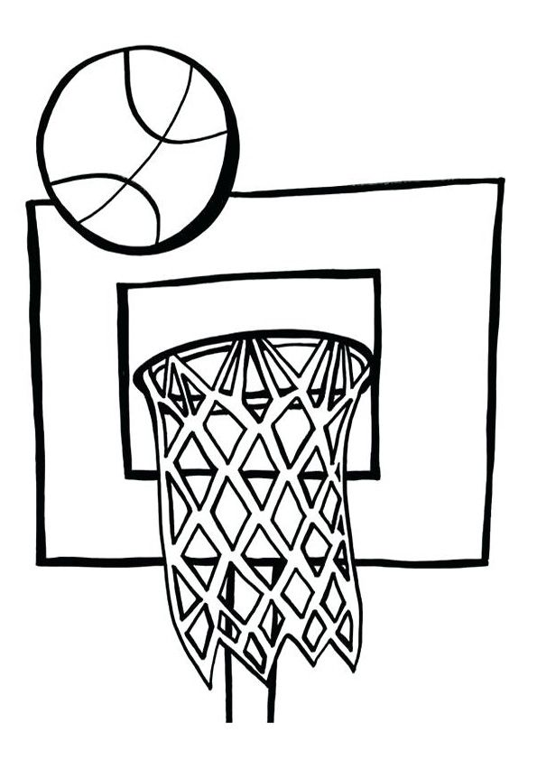 Basketball Equipment Coloring Page Coloring Pages Basketball Drawings Free Basketball