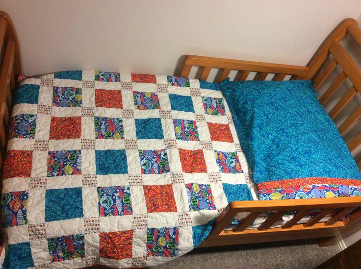 Square Quilt + pillowcase: Beach