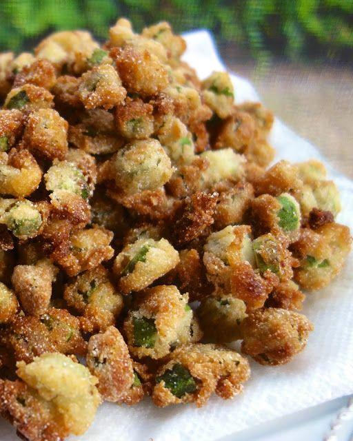 Southern Fried Okra - only 3 ingredients to make this delicious veggie! My FAVORITE vegetable!