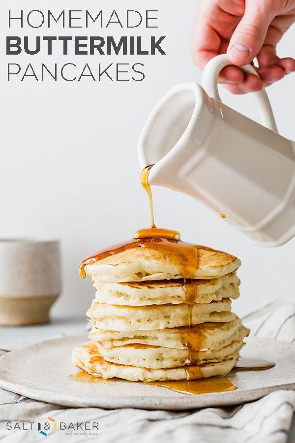 The Best Homemade Buttermilk Pancakes These Buttermilk Pancakes Are Light Ultra Fl Homemade Buttermilk Pancakes Homemade Buttermilk Pancake Recipe Buttermilk