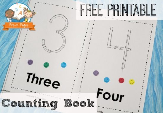 Free Printable 1-10 Number Book | Pre-K Pages. for more early intervention pins, follow @Connecting for Kids