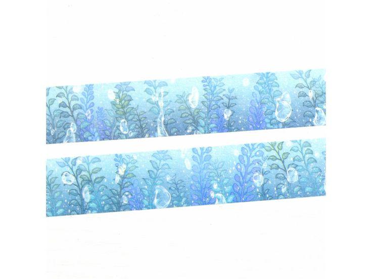"""WASHI páska """"Kapky rosy"""" (PW20D07M0025). rozměr 2.5cm x 7m"""