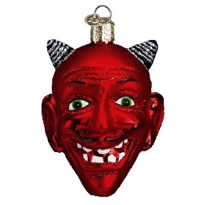 red devil head halloween christmas ornament - Halloween Christmas Ornaments