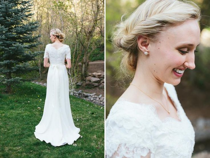 Modest Wedding Dresses - Alta Moda I wish I could find this dress!!! Love the chiffon flow AND THE SLEEVE LENGTH!
