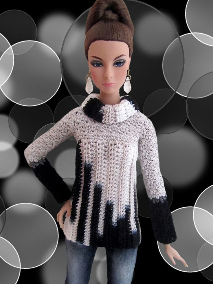 Crochet doll sweater