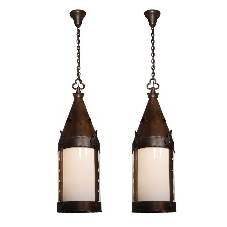 large antique gothic revival lantern iron u0026 bronze early 1900u0027s one available