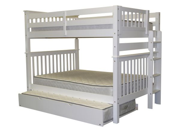 White Full Bunk Beds