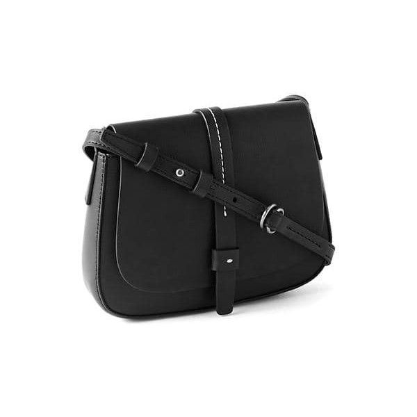 Gap Women Crossbody Saddle Bag ($40) ❤ liked on Polyvore featuring bags, handbags, shoulder bags, black, regular, gap handbags, faux leather crossbody purse, faux leather purses, vegan handbags and faux leather shoulder bag