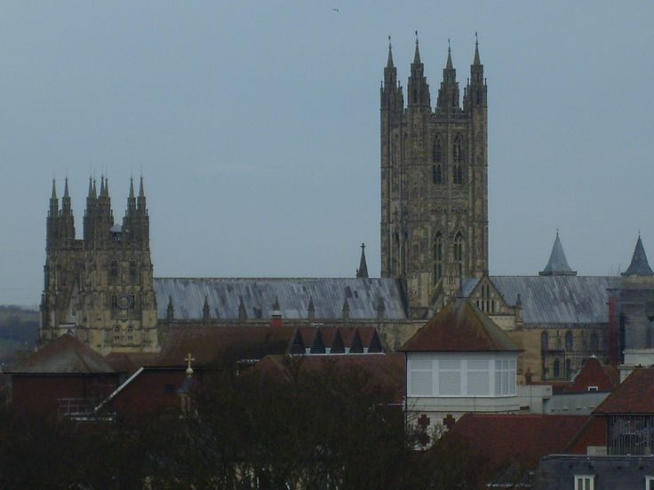 Canterbury Cathedral - from across the city centre