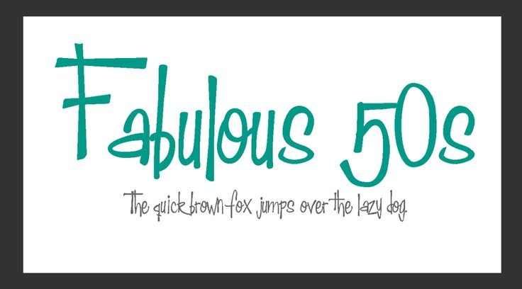 13 Best images about 50s Fonts on Pinterest | Rockabilly ...