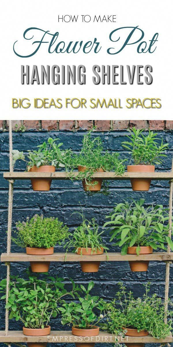 These Hanging Potted Shelves From The Book Big Ideas For Small