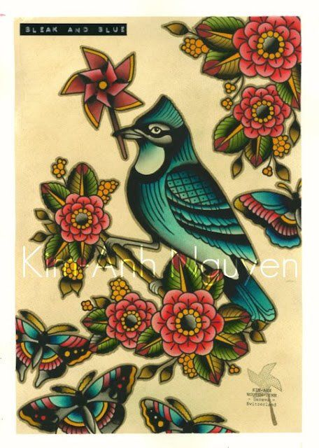 Kim-Anh Nguyen tattoo design flash