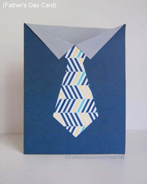 This will be dad's favorite tie!  There is a great tutorial for this awesome handmade Father's Day card.