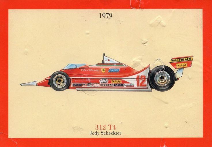 CARTOLINA FERRARI COMMEMORATIVA - 312 T4 JODY SCHECKTER -1979 NON VIAGGIATA