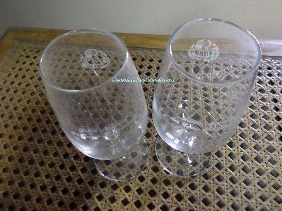 Wine Taster Sample Glasses  French Caves. by GlassEyedGoblin, €15.00