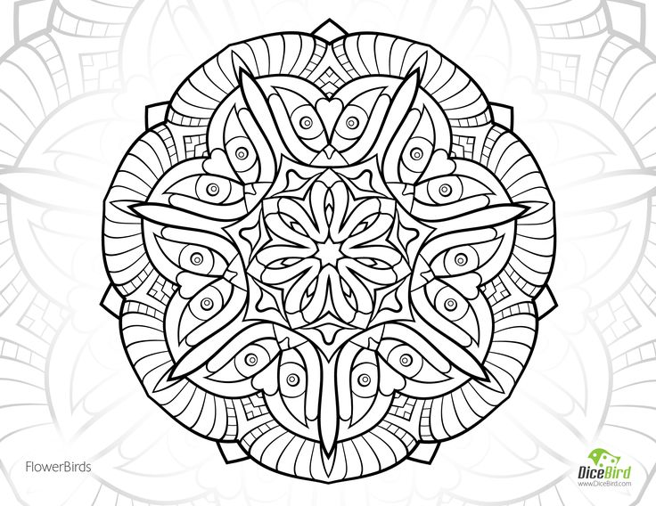 Flower Birds Free Coloring Book Pages