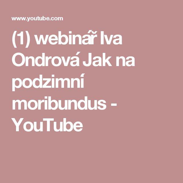 (1) webinář Iva Ondrová   Jak na podzimní moribundus - YouTube