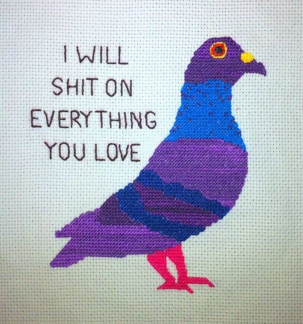 This harsh truth. | 21 Delightfully Sweary Cross Stitches You Need In Your Life