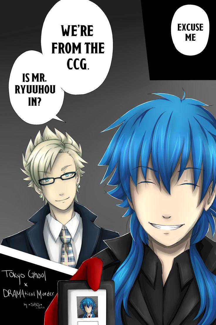 1/5/17 Tokyo Ghoul x DRAMAtical Murder. TG :re ch 59 Aoba as Kaneki, Virus as Furuta (and Ryuuhou as Eto)