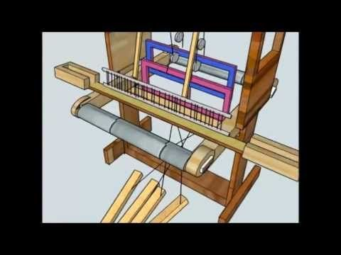 How to warp a 4 shaft loom - YouTube