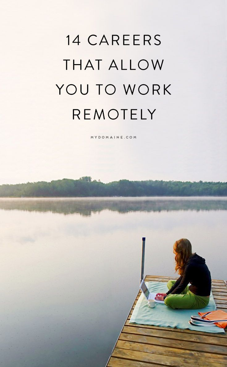 Want to Work Remotely? Consider One of These 14 Careers Career, Career Advice, Career Tips #career