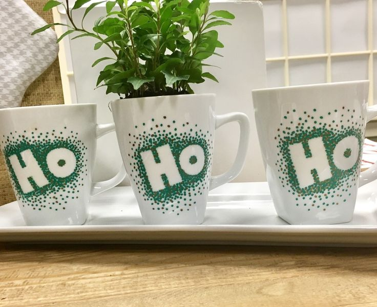 Santa will love dipping his cookies into milk in these adorable DIY Christmas mugs.