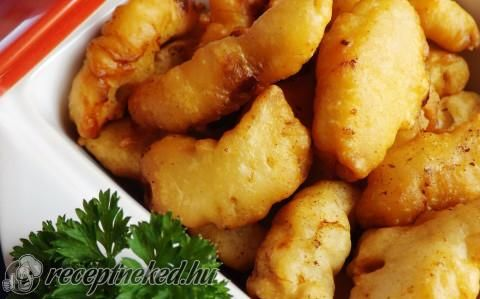 Krémsajtos bundában sült csirkefalatok recept fotóval