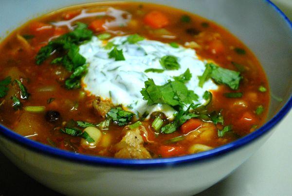 Spicy Delicata Squash Soup with Cilantro Lime Yogurt (omit corn and ...