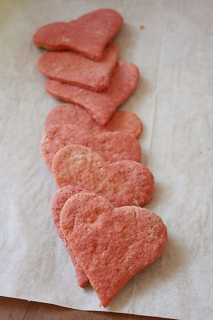 My pink cookies colored with beet puree