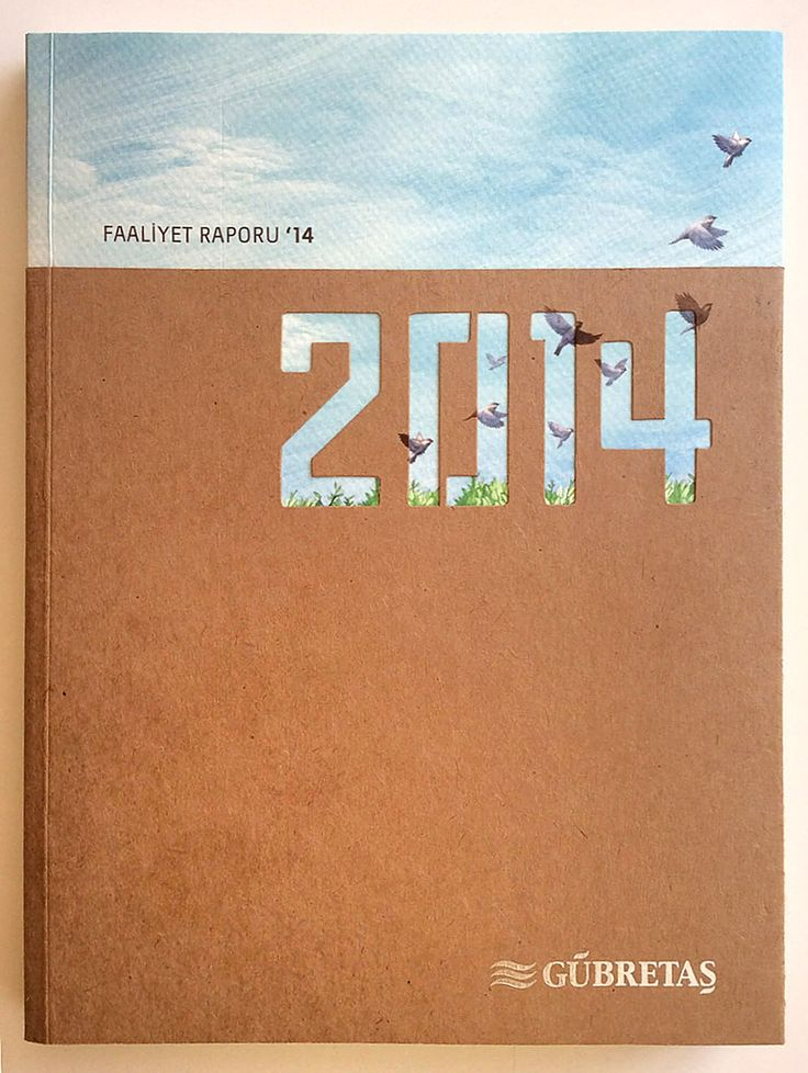 Janna // This is a freaking Turkish fertilizer company! This is one of the best report covers I've ever seen - it's simple yet elegant and textural.