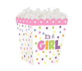 """Sweet Treat Box """"It's A Girl"""" 4"""" x 4"""" x 4½""""-45305"""