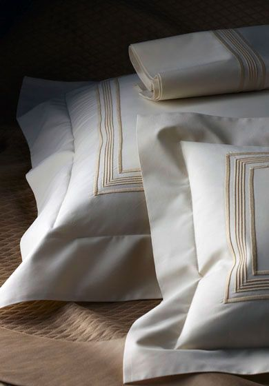 DERBY Refined, stylish and contemporary best describes our handsome design. Crisp lines of embroidery in your choice of colors are on 400 count Egyptian cotton sheeting.