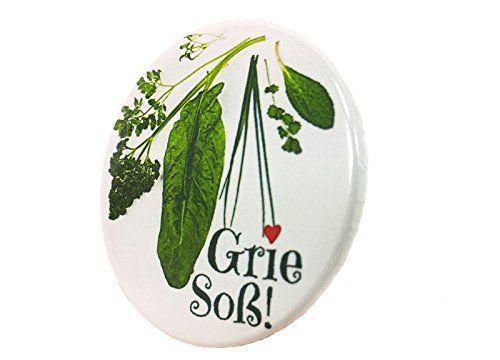 Grie Soß Button Druck 3,8cm Grüne Soße Hessen Anstecker Deko AnneSvea http://www.amazon.de/dp/B00XG98LHG/ref=cm_sw_r_pi_dp_0aq-vb0KJTC9Z