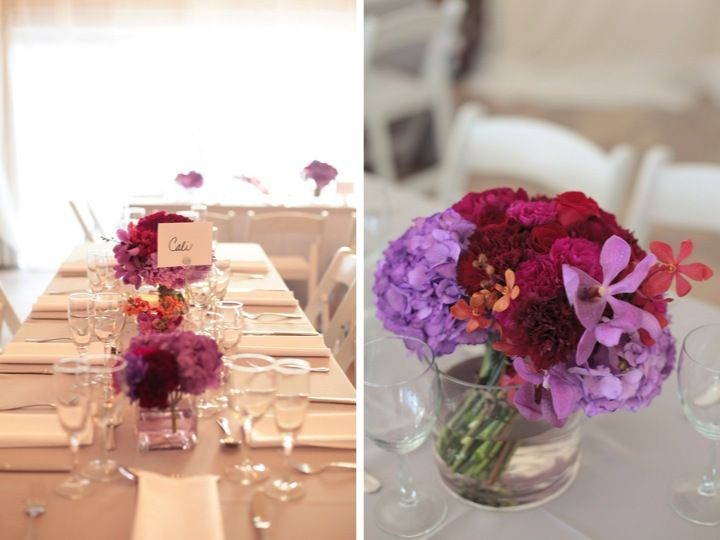 Radiant Orchid #wedding #inspiration #reception