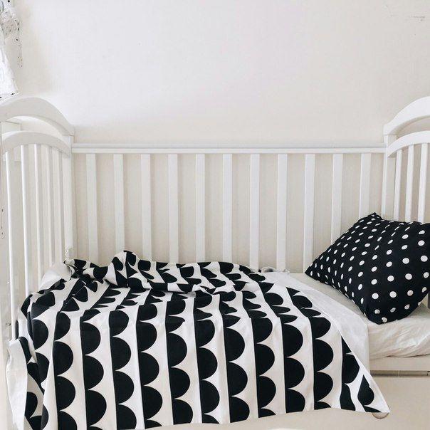 Baby Bedding - Nursery Bedding - Monochrome Bedding - Baby Bedding Crib - Unique Bed Clothing - Handmade Bedding Set - Black And White by KarambaKids on Etsy