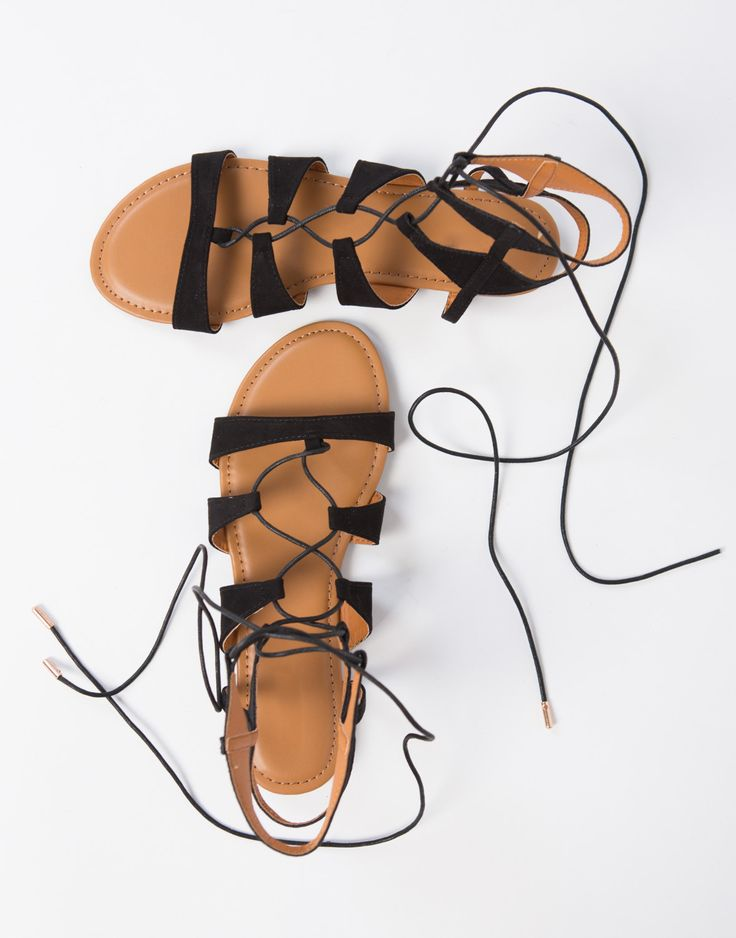 #2020AVEXFESTIVAL Suede Lace-Up Sandals