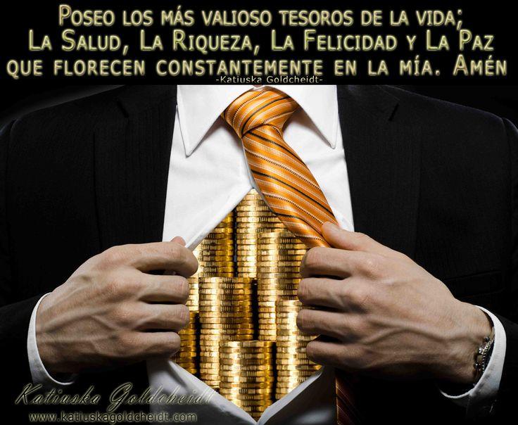 Afirma; El Dinero y muchas cosas buenas llegan a mi vida con facilidad http://katiuskagoldcheidt.com/llega-mi-abundancia/