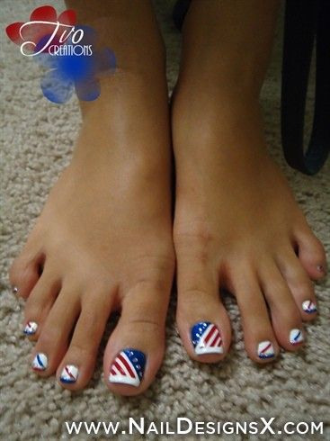 156 best toe nail designs nail art images on pinterest art 4th july toe nail art nail designs nail art prinsesfo Gallery