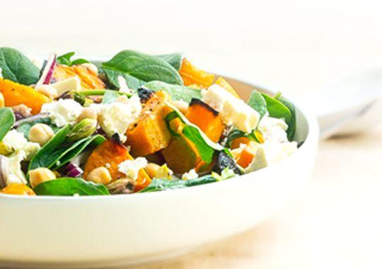 Roast Pumpkin Feta and Chickpea Salad