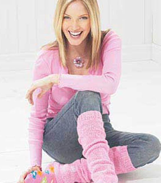 Adorable knit satin leg warmers!